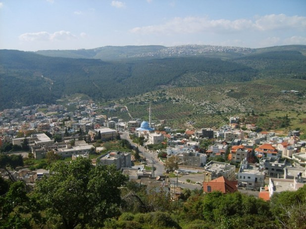View at the Arab village of Daburiyya seen from the slopes of Mount Tabor צילום:gugganij