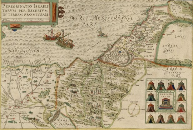 מידבר שור המרכז המפה Sur Desertum