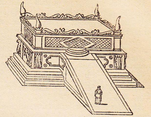 אילוסטרציה של מזבח העולה, 1890