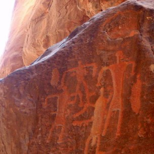 Petroglyphs at Wadi Rum צילום: Heji Kim