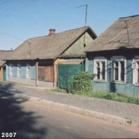 Smilovichi, Belarus. Former houses occupied and/or owned by Jews. Photo: Jewish Heritage Research Group (2007).