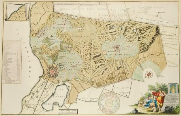 Gooiland map drawn between 1725 and 1734 by Reinier and Joshua Ottens יוצרInter-Antiquariaat Mefferdt & De Jonge