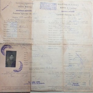 Temporary Identification Certificate issued in Riga, Latvia