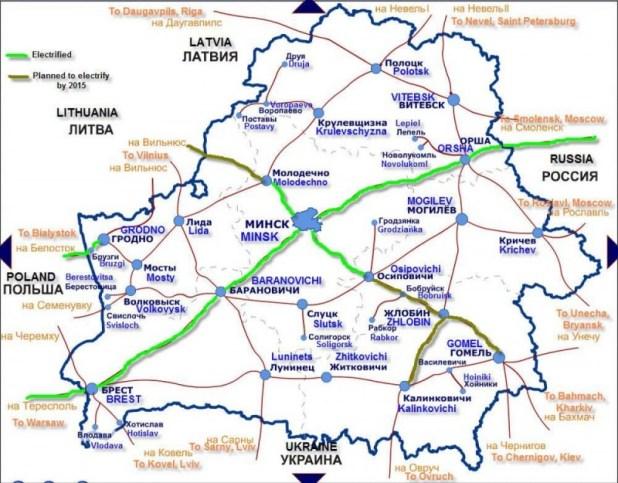 Closest Railroad: Osipovichi