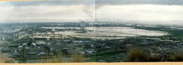 שיטפון לאחר גשם במפרץ חיפה ובתי זיקוק