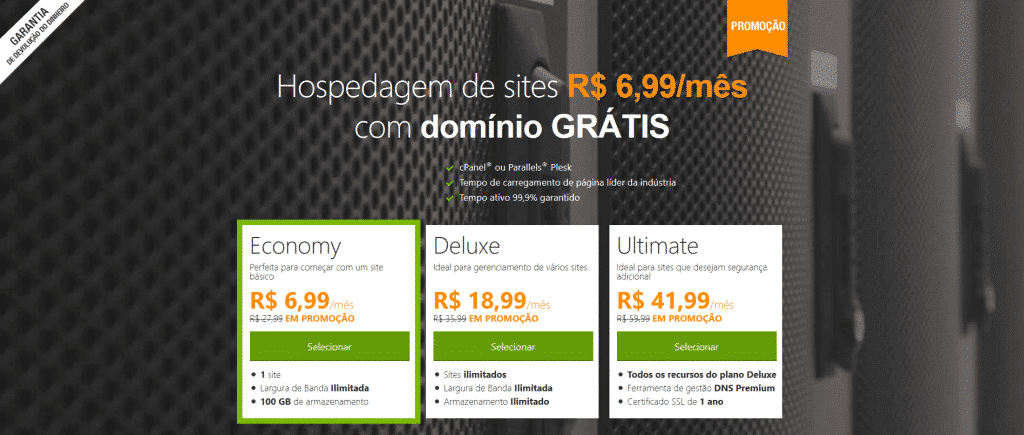 GoDaddy Hospedagem de Sites Mais Barata