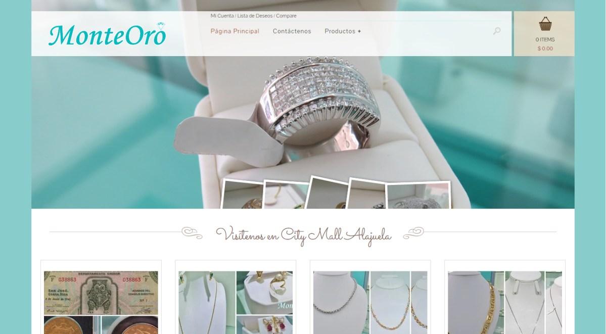 Diseño y Hospedaje Web Joyería MonteOro