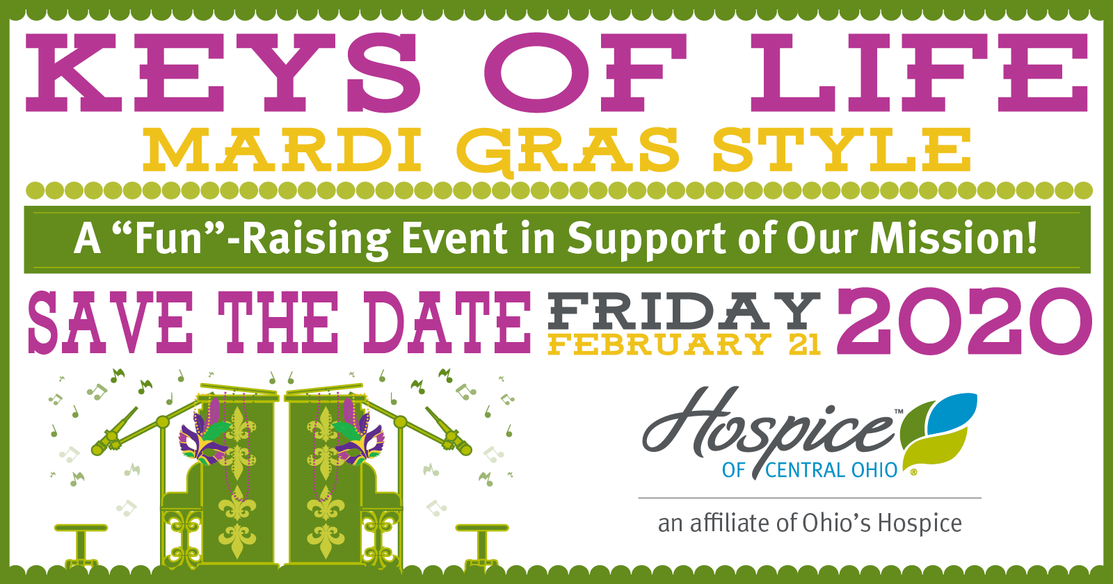 Hospice Of Central Ohio To Host Keys Of Life Event