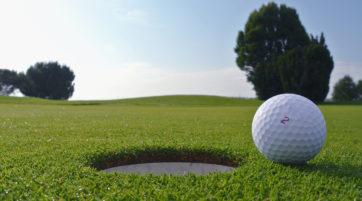 golf hole and ball