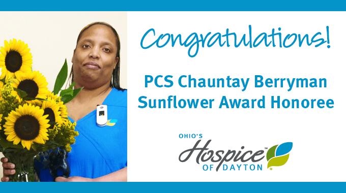 Chauntay Berryman Receives Sunflower Award