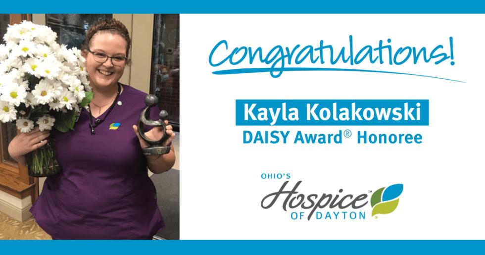Congratulations to Kayla Kolakowski: DAISY Award Honoree