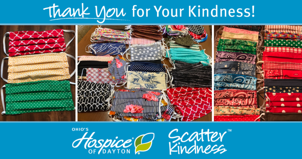 Thank You for Your Kindness! Face Masks Donation - Ohio's Hospice of Dayton