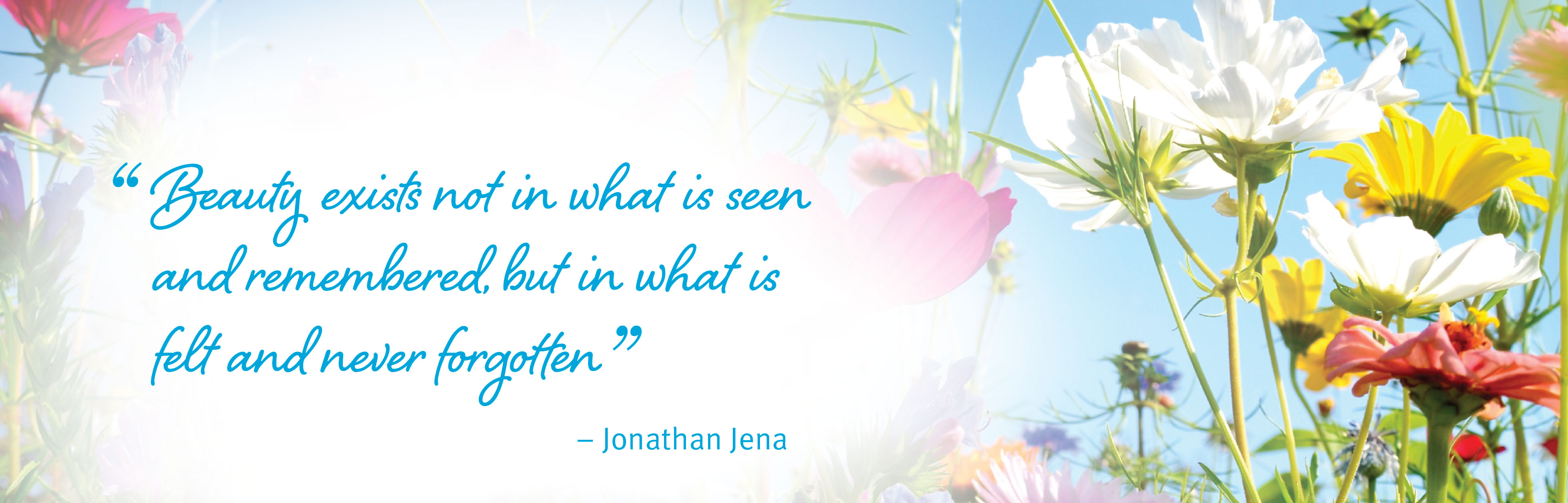 Beauty exists not in what is seen and remembered, but in what is felt and never forgotten. - Jonathan Jena