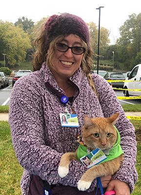 Volunteer With Cat
