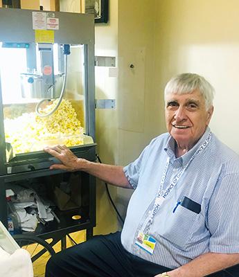 Volunteer With Popcorn