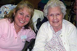 Hospice volunteer work