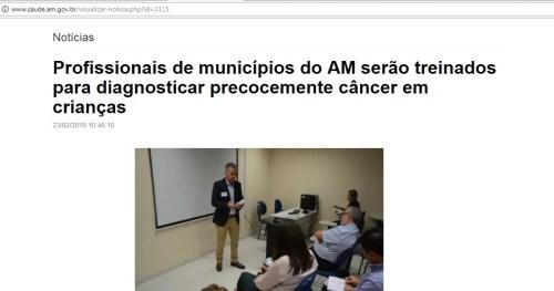 Site do Governo do Estado do Amazonas anuncia projeto do PENSI