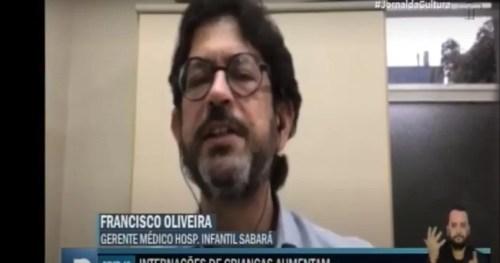 Gerente Médico do Sabará fala sobre internações de crianças por COVID-19 no Jornal da Cultura