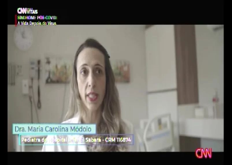 Especialista do Sabará Hospital Infantil participou do programa da CNN que abordou a vida pós-Covid