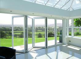 Bifold doors made of metal