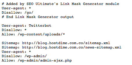 Robots.txt HostDime Ar