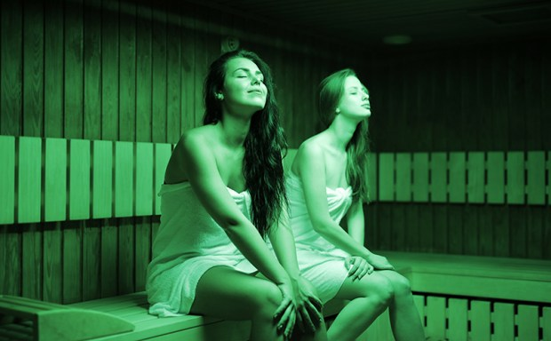 bating in sauna