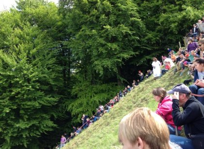 Cheese rolling in England