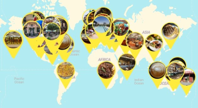 Most recommended restaurants world view