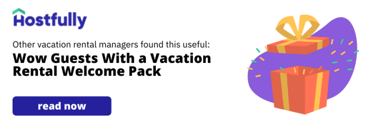 image link to article about vacation rental welcome pack