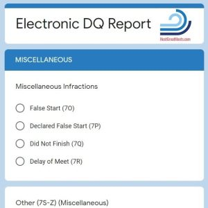 Electronic DQ Form for Swim Meets