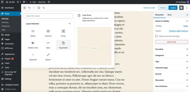 Elemen tata letak Gutenberg