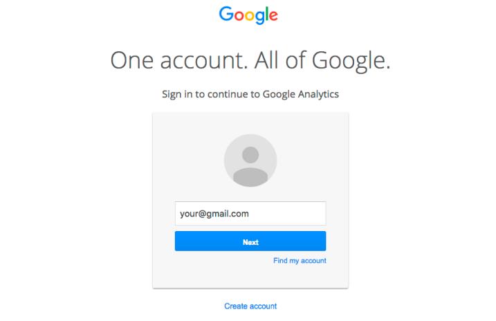 google analytics sign up