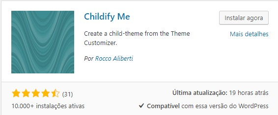 instalar plugin childify-me