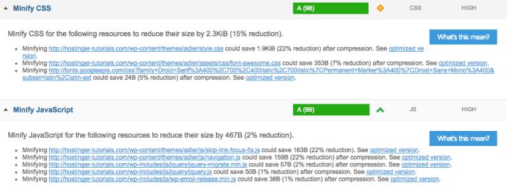 Minimiser CSS, JS et HTML pour accélérer WordPress