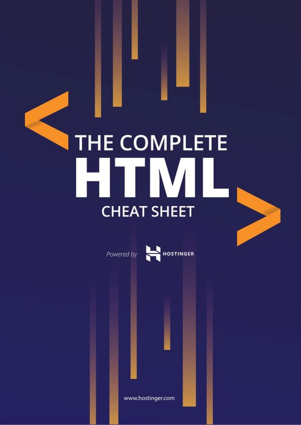 HTML Cheat Sheet for 2019 (New HTML5 Tags Included) in PDF ...