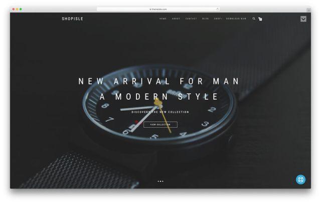 ShopIsle theme demo page.