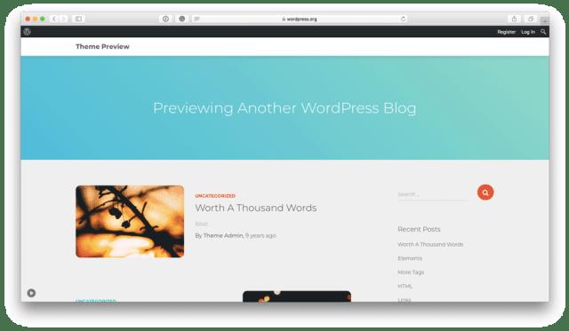 Orfeo free WordPress theme preview