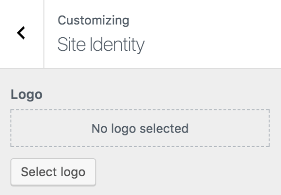 Site identity di customizer WordPress