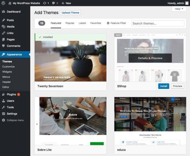 Menginstall tema baru di website WordPress