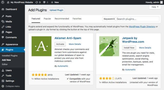 Install plugin WordPress