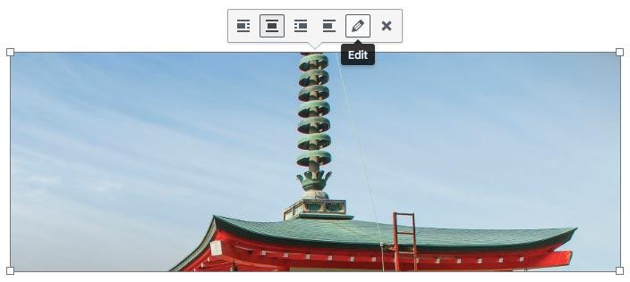 Editing image in WordPress