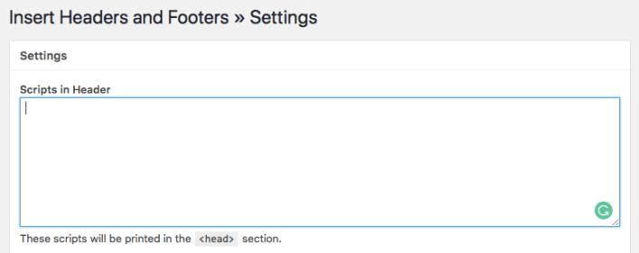 Menggunakan plugin header header dan footer masukkan untuk menambahkan kode