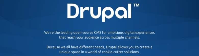 Lo slogan di Drupal CMS