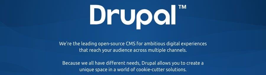 The slogan of Drupal CMS
