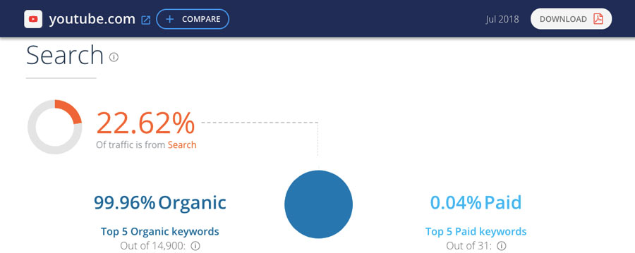 Website report example from SimilarWeb