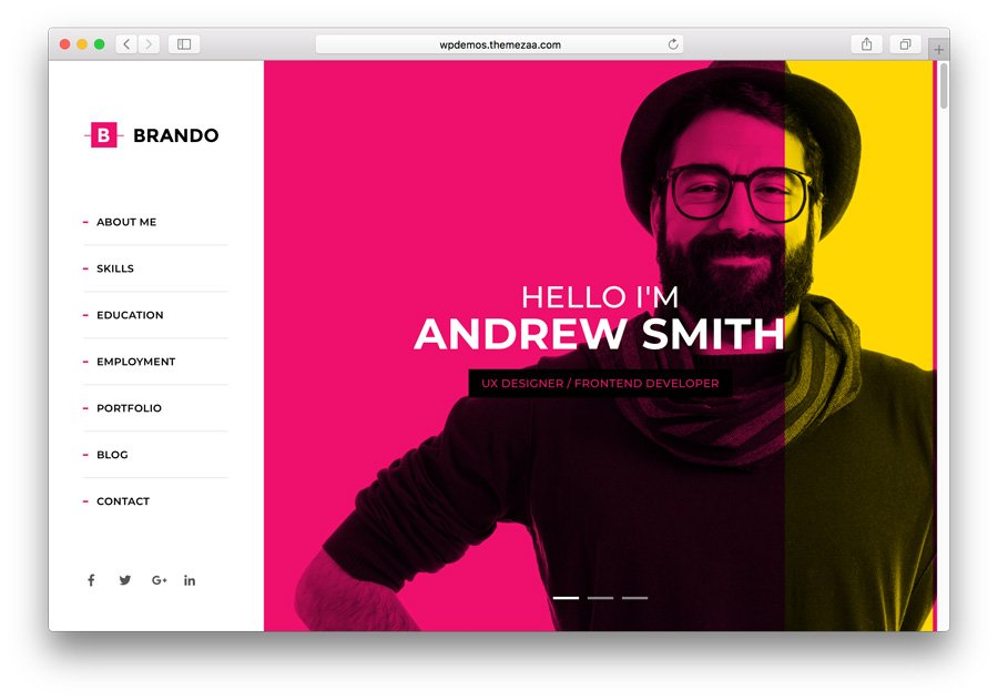 Brando Premium WordPress Portfolio Theme