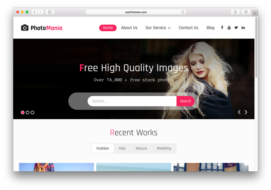 Photomania WordPress Theme