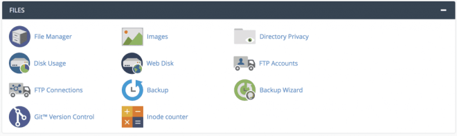 file manager tool in cpanel