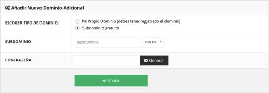 Hacer un sitio web de ensayo utilizando un subdominio gratuito proporcionado por Hostinger