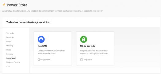 Comprando un certificado SSL/TLS de por vida en la Power Store de Hostinger